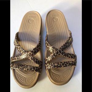 Crocs Leopard Spot Sandals
